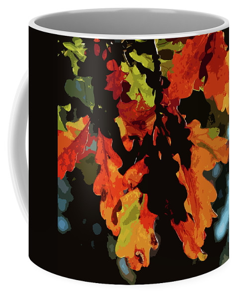 Oak Leaves Coffee Mug featuring the photograph Oak Leaves In Autumn by James Hill