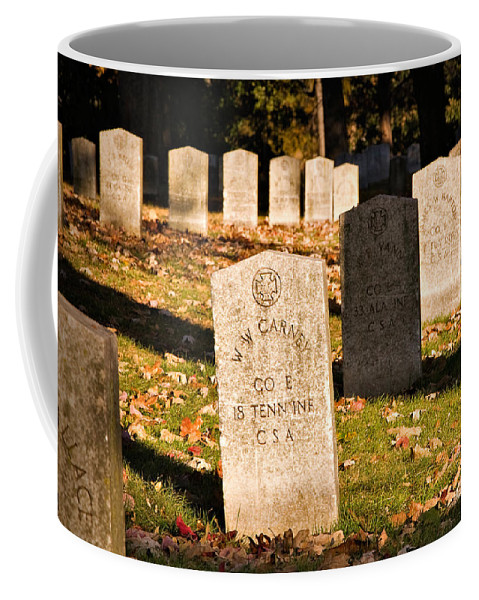 Travel Coffee Mug featuring the photograph Oakland Cemetery Atlanta by Louise Heusinkveld