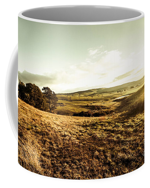 Landscape Coffee Mug featuring the photograph Oatlands Rolling Hills by Jorgo Photography - Wall Art Gallery