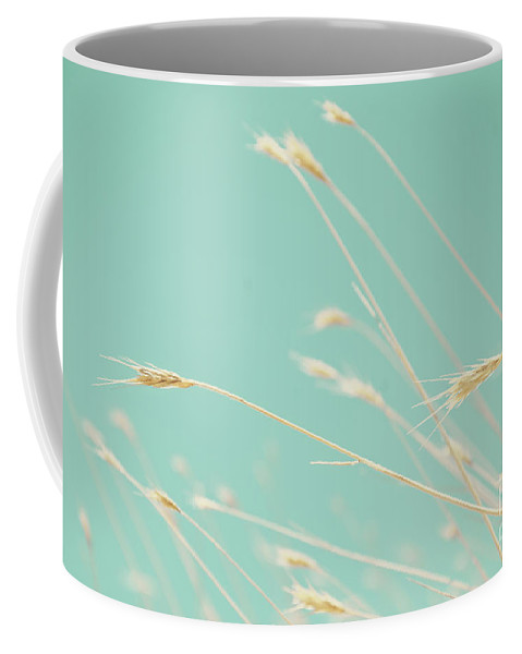 Oats Coffee Mug featuring the photograph Oats On Aqua Background by Jim And Emily Bush