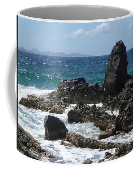 Caribbean Coffee Mug featuring the photograph Obelisk In The Sea by Margaret Brooks