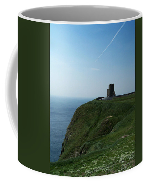 Irish Coffee Mug featuring the photograph O'brien's Tower At The Cliffs Of Moher Ireland by Teresa Mucha