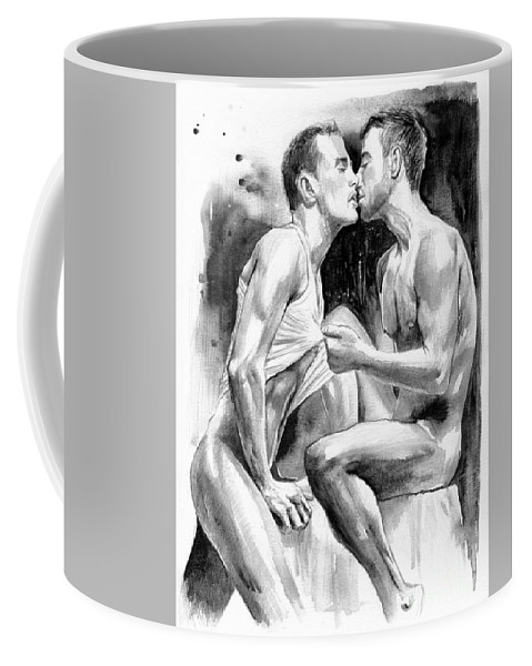 Love Coffee Mug featuring the painting Obsession Night by Suzann Sines