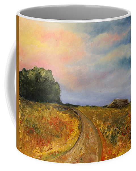Landscape Coffee Mug featuring the painting Obviously Covered by Darko Topalski