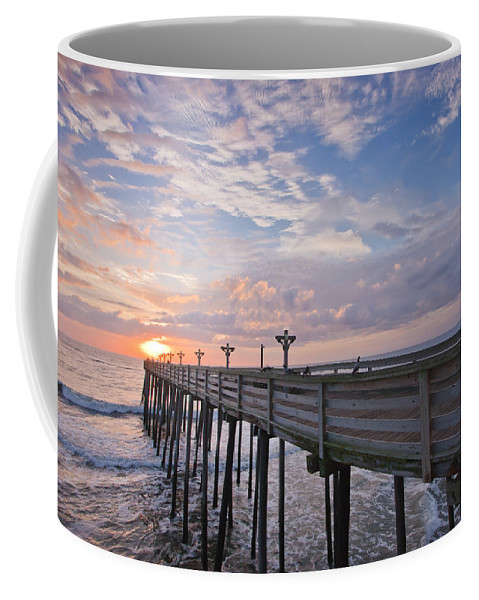 Atlantic Coffee Mug featuring the photograph Obx Sunrise by Adam Romanowicz