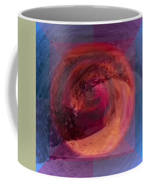 Abstract Coffee Mug featuring the painting Ocean And Earth by Shelley Myers