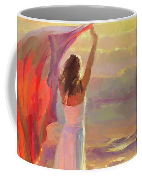 Ocean Coffee Mug featuring the painting Ocean Breeze by Steve Henderson