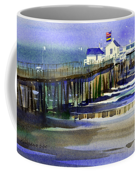 Ocean Coffee Mug featuring the painting Ocean City Fishing Club by Lee Klingenberg