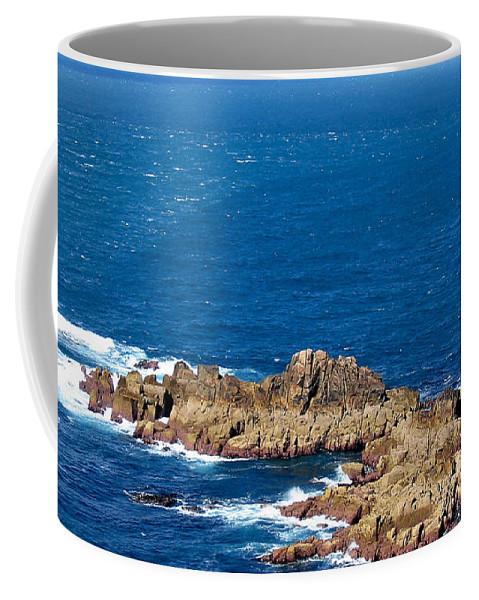 Aqua Coffee Mug featuring the photograph Ocean Cliffs by Svetlana Sewell