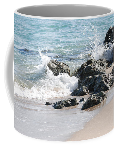 Ocean Coffee Mug featuring the photograph Ocean Drive Rocks by Rob Hans