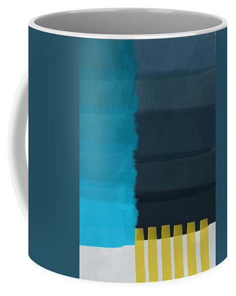 Ocean Coffee Mug featuring the painting Ocean Front Walk- Art By Linda Woods by Linda Woods