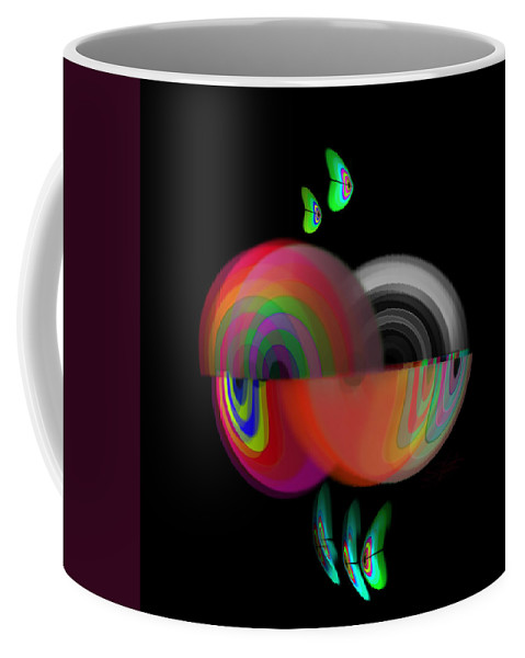 Under Water Art Coffee Mug featuring the painting Ocean Motion by Charles Stuart