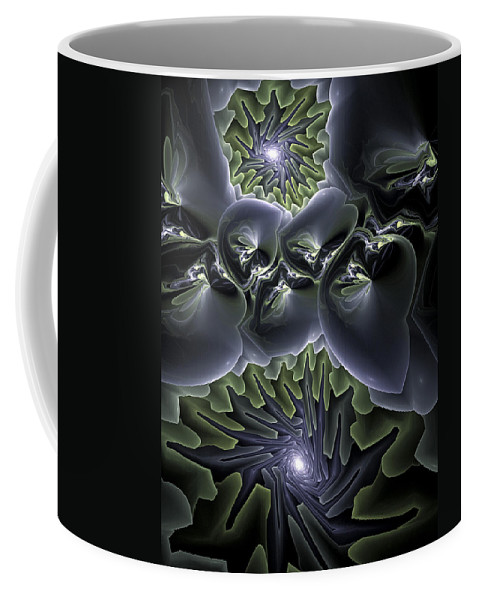 Fractal Coffee Mug featuring the digital art Ocean Mystery by Amorina Ashton