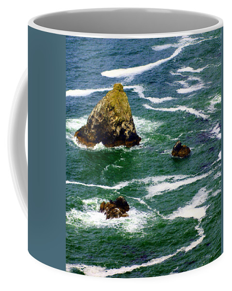 Ocean Coffee Mug featuring the photograph Ocean Rock by Marty Koch