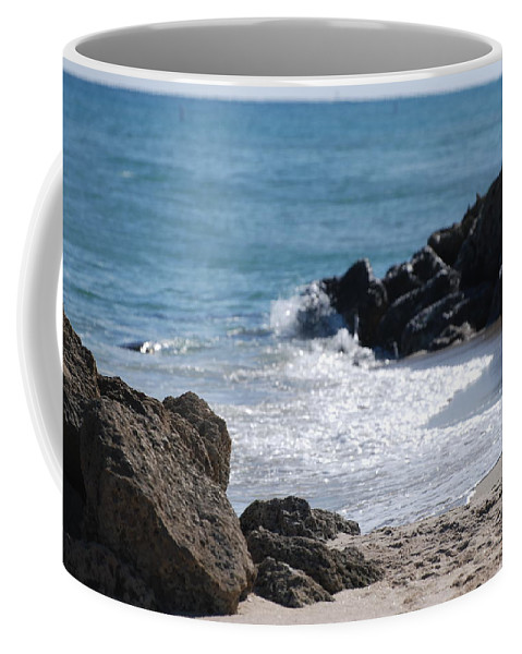 Sea Scape Coffee Mug featuring the photograph Ocean Rocks by Rob Hans