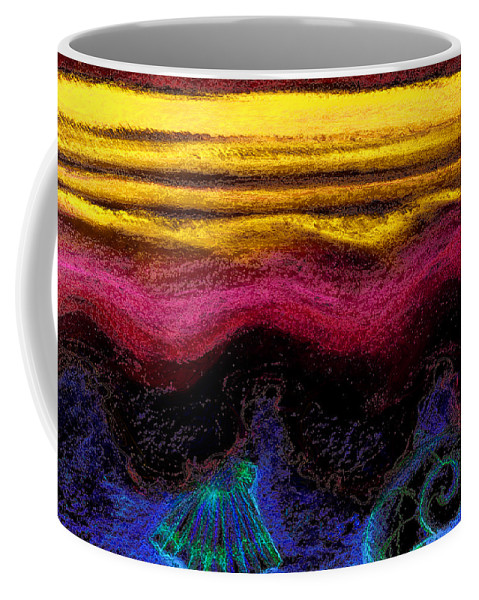 Ocean Coffee Mug featuring the painting Ocean by Shelley Myers