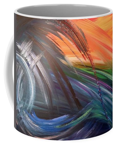 Ocean Coffee Mug featuring the painting Island Sunset by Tracy Ann Delfar