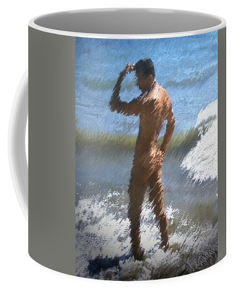 Nudes Coffee Mug featuring the photograph Ocean Thoughts by Kurt Van Wagner