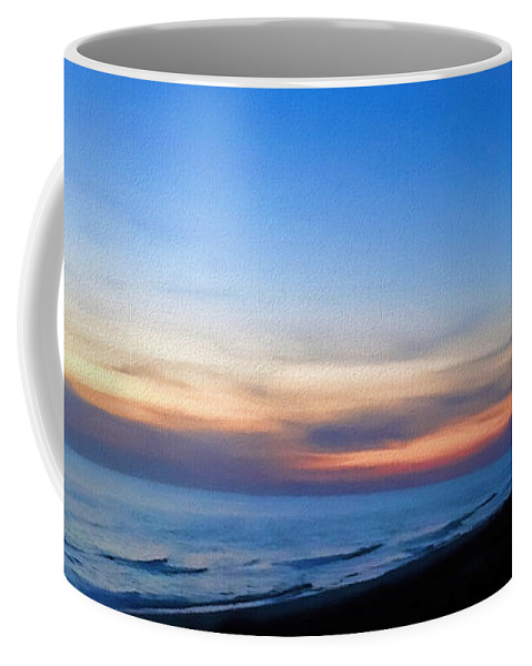 Sunset Coffee Mug featuring the photograph Ocean View Of Sunset On The Beach At Cape San Blas, Florida by WildBird Photographs