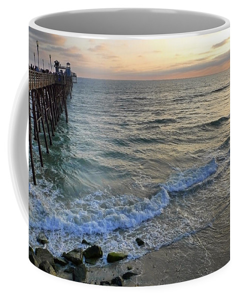 Oceanside Coffee Mug featuring the photograph Oceanside by Skip Hunt