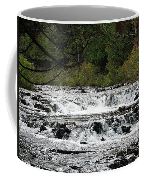 Waterfall Coffee Mug featuring the photograph Ocqueoc by Kelly Mezzapelle