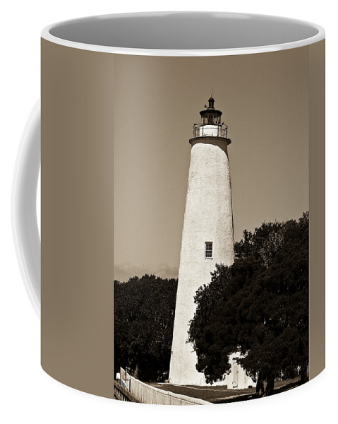 Lighthouse Coffee Mug featuring the photograph Ocracoke Lighthouse by Ches Black