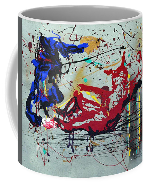 Impressionist Painting Coffee Mug featuring the painting October Fever by J R Seymour