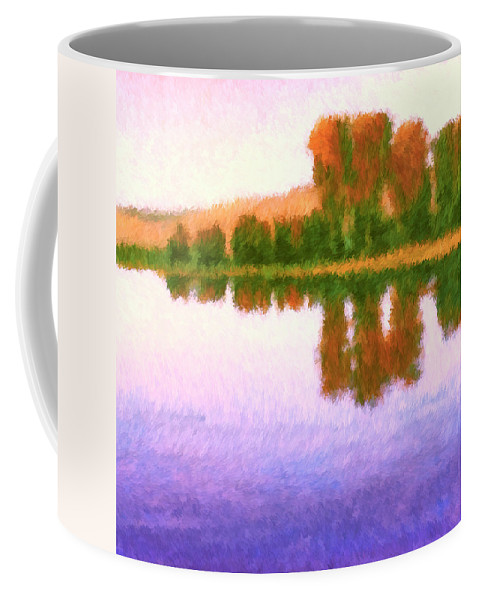 October Morning Coffee Mug featuring the painting October Morning by Dominic Piperata