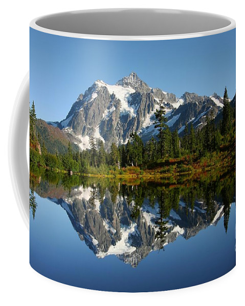 Mountain Reflection Lake Summit Mirror Coffee Mug featuring the photograph October Reflection by Winston Rockwell