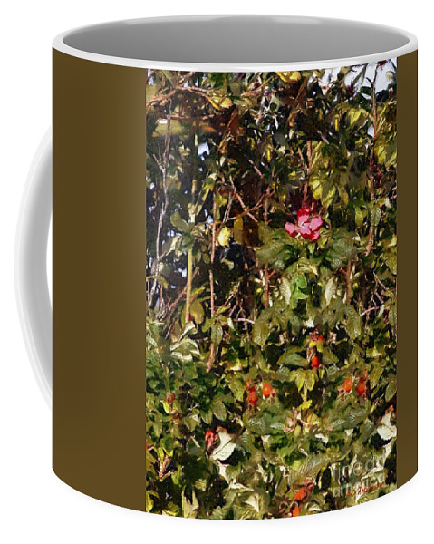 Autumn Coffee Mug featuring the painting October Rose by RC DeWinter