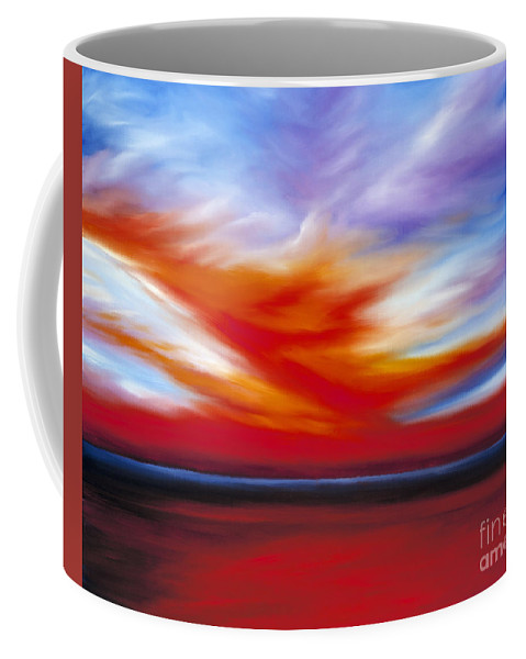 Seascape Coffee Mug featuring the painting October Sky II by James Christopher Hill