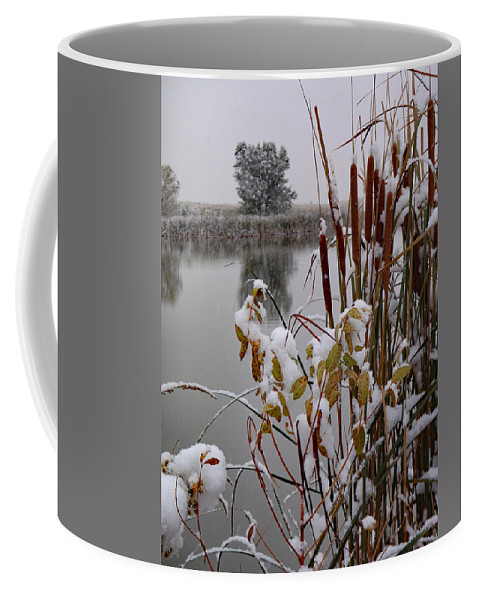 Jim Coffee Mug featuring the photograph October Snow by James Peterson