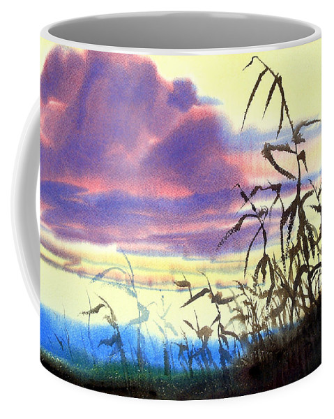October Coffee Mug featuring the painting October's Kiss by Lee Klingenberg