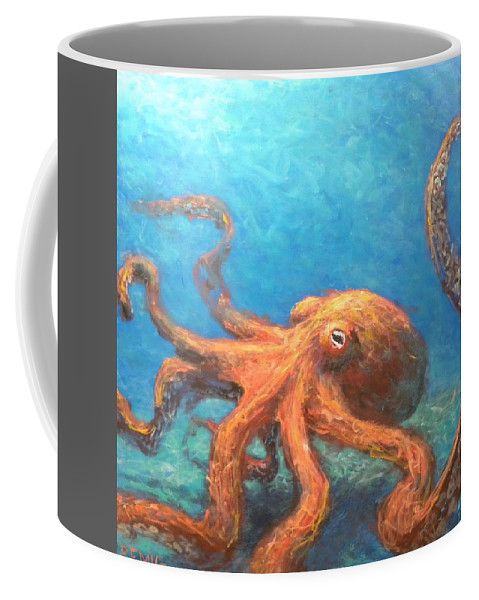 Octopus Coffee Mug featuring the painting Octopus by Paul Emig
