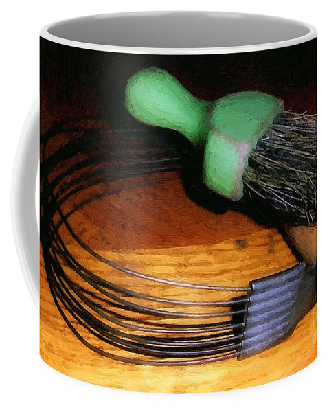 Antiques Coffee Mug featuring the painting Odd Couple by RC DeWinter