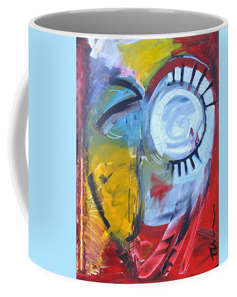 Jim Dine Coffee Mug featuring the painting Ode To Jim Dine by Tim Nyberg