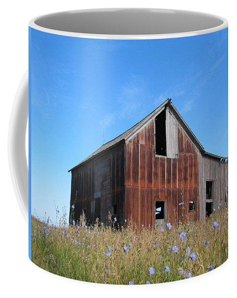 Landscape Coffee Mug featuring the photograph Odell Barn I by Dylan Punke