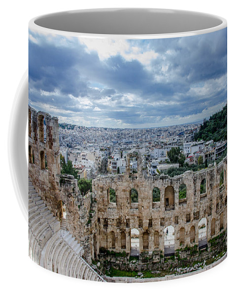 Odeon Of Herodes Atticus - Athens Greece Coffee Mug featuring the photograph Odeon Of Herodes Atticus - Athens Greece by Debra Martz