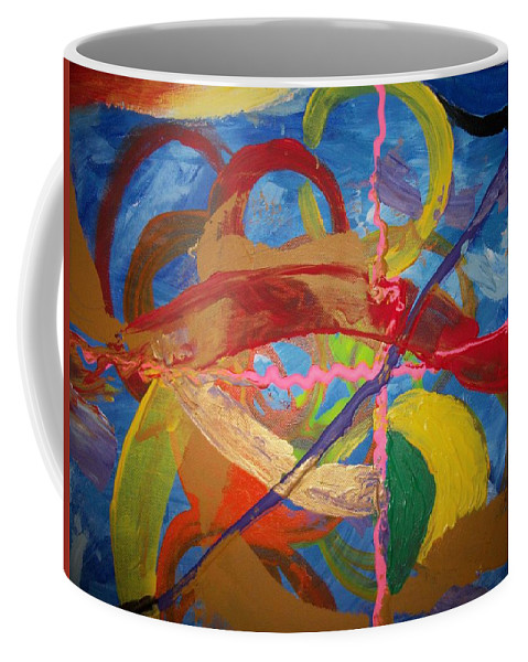 Coffee Mug featuring the painting Odyssey by Jan Gilmore