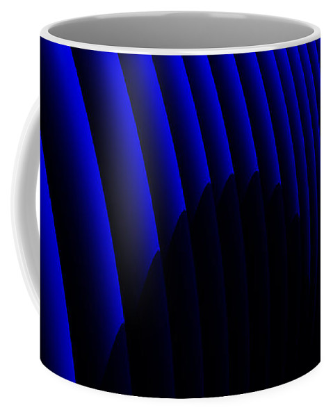 Abstract Coffee Mug featuring the digital art Odyssey by Richard Rizzo
