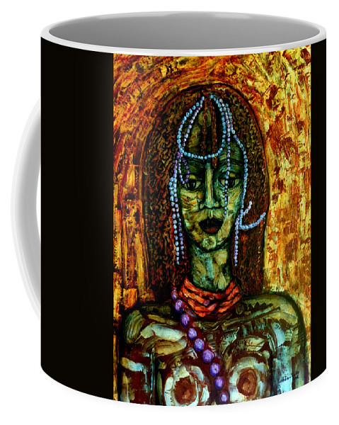 Memories Coffee Mug featuring the painting Of Another Childhood I Keep Memories by Madalena Lobao-Tello