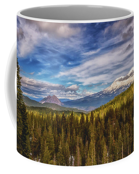 Black Butte Coffee Mug featuring the photograph Off In The Distance by Marnie Patchett