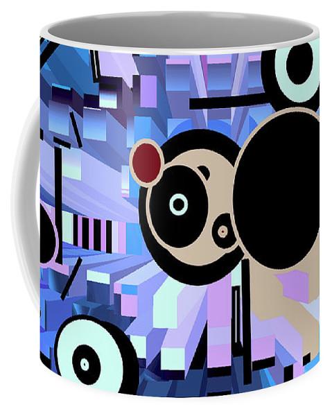 Spatial Coffee Mug featuring the digital art Off The Grid 61 by Lynda Lehmann