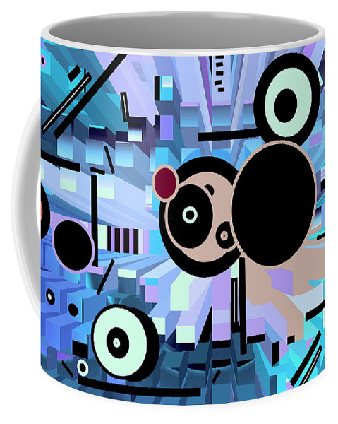 Spatial Coffee Mug featuring the digital art Off The Grid 62 by Lynda Lehmann