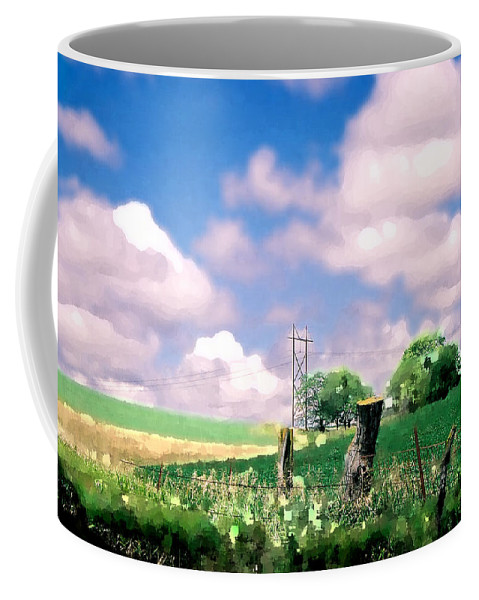 Landscape Coffee Mug featuring the photograph Off The Grid by Steve Karol