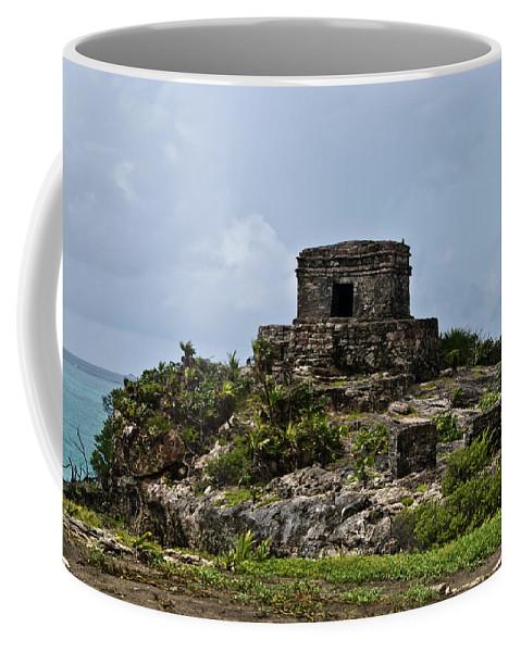 Tulum Ruins Coffee Mug featuring the photograph Offertories Telum Ruins Mexico by Douglas Barnett