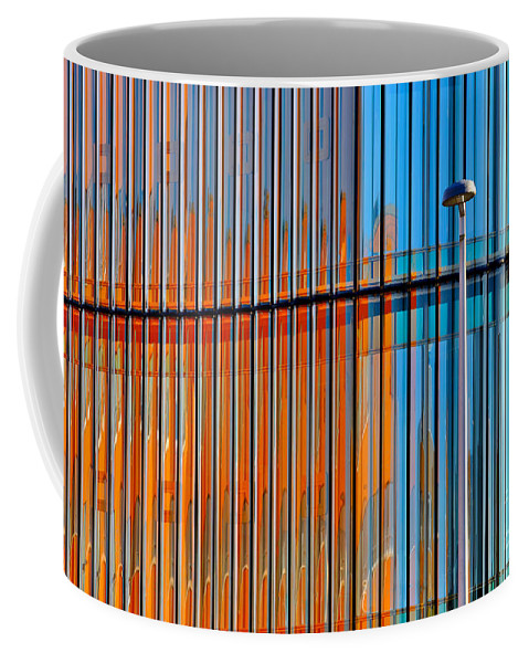 Window Coffee Mug featuring the photograph Office Colors by Jan Brons