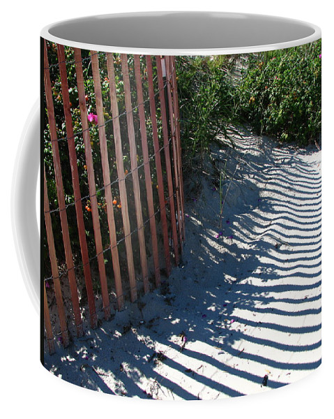 Beach Coffee Mug featuring the photograph Ogunquit Shadows by Mary Ellen Mueller Legault
