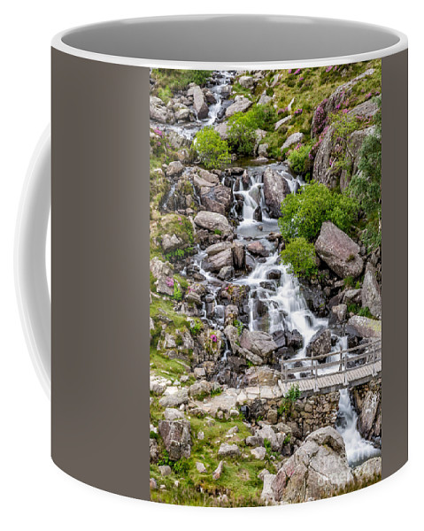 Waterfall Coffee Mug featuring the photograph Ogwen Bridge by Adrian Evans
