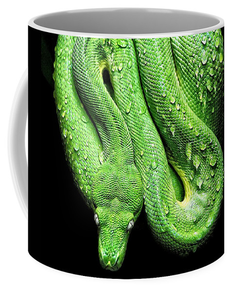 Alicegipsonphotographs Coffee Mug featuring the photograph Oh So Green Viper by Alice Gipson